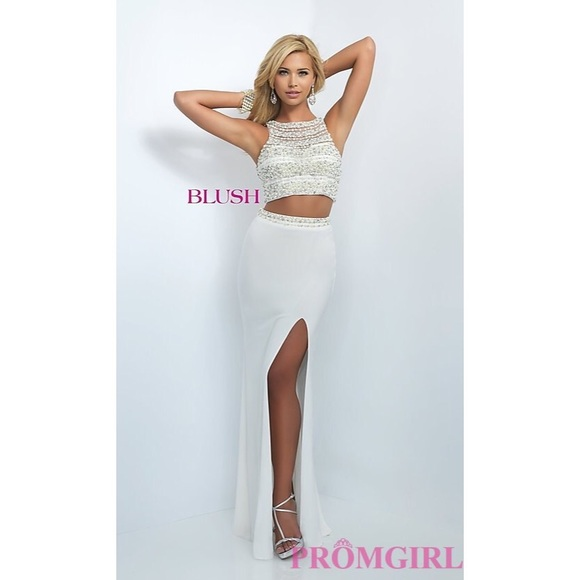 8474ae64022 Blush Dresses   Skirts - White Blush Two-Piece Prom Dress